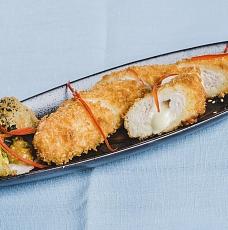 Куриная грудка с сыром и капустой брокколи фрай